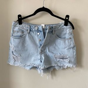 H&M Distressed Denim Shorts